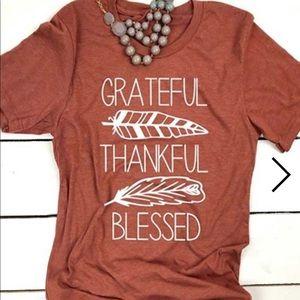 🔥1 Medium LEFT 🔥Grateful Thankful Blessed Shirt